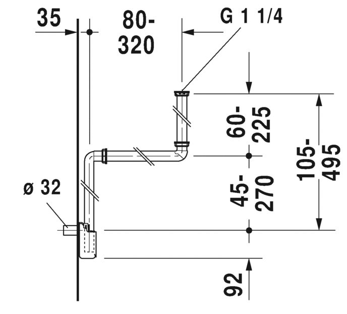 Малогабаритний сифон Duravit 50760000
