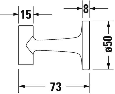 Гачок для рушника Duravit Starck T 99291000