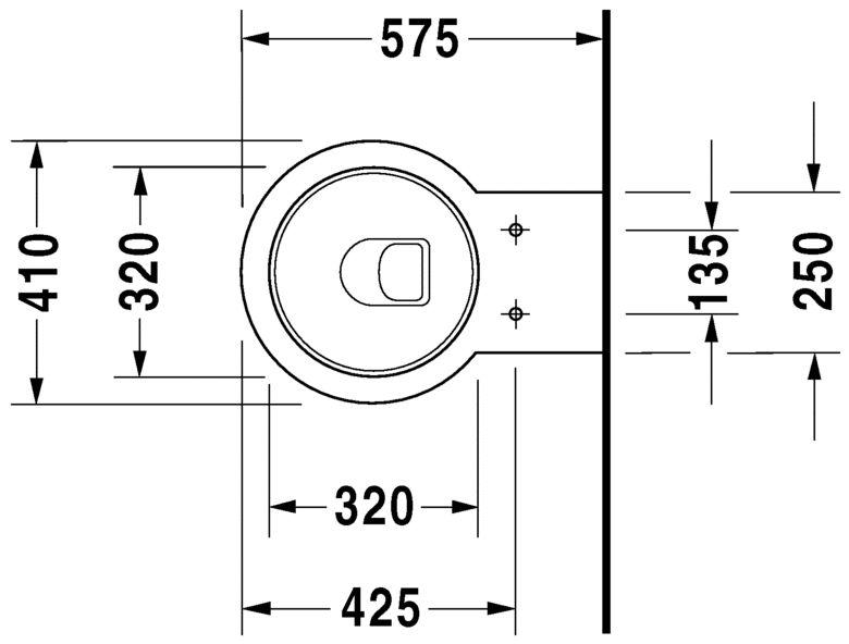 Унітаз підвісний Duravit Starck 1 2100900641