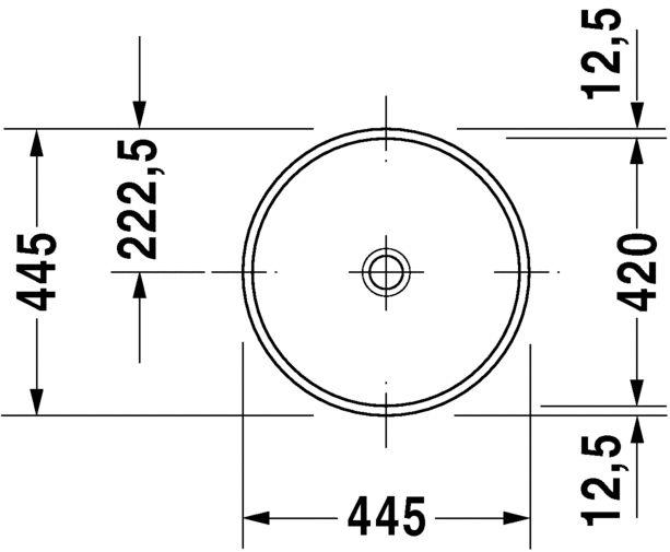 Умивальник вбудовуваний Duravit Architec 319420000