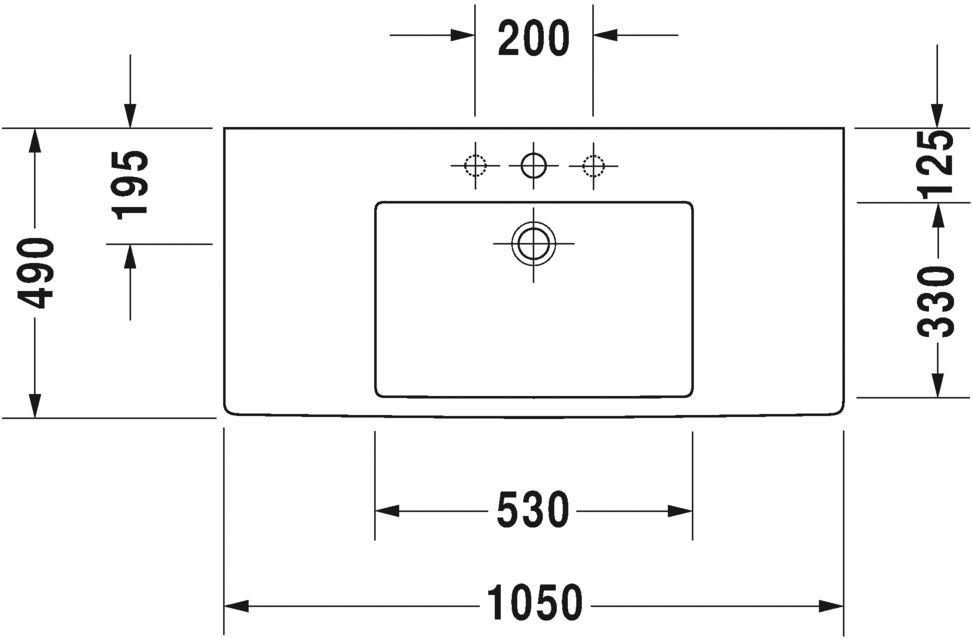 Умивальник Duravit Vero для меблів 329100000
