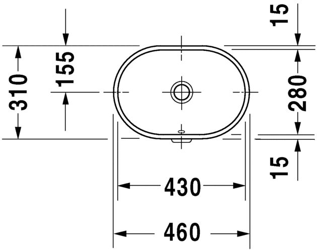 Умивальник вбудовуваний Duravit Foster 336430000