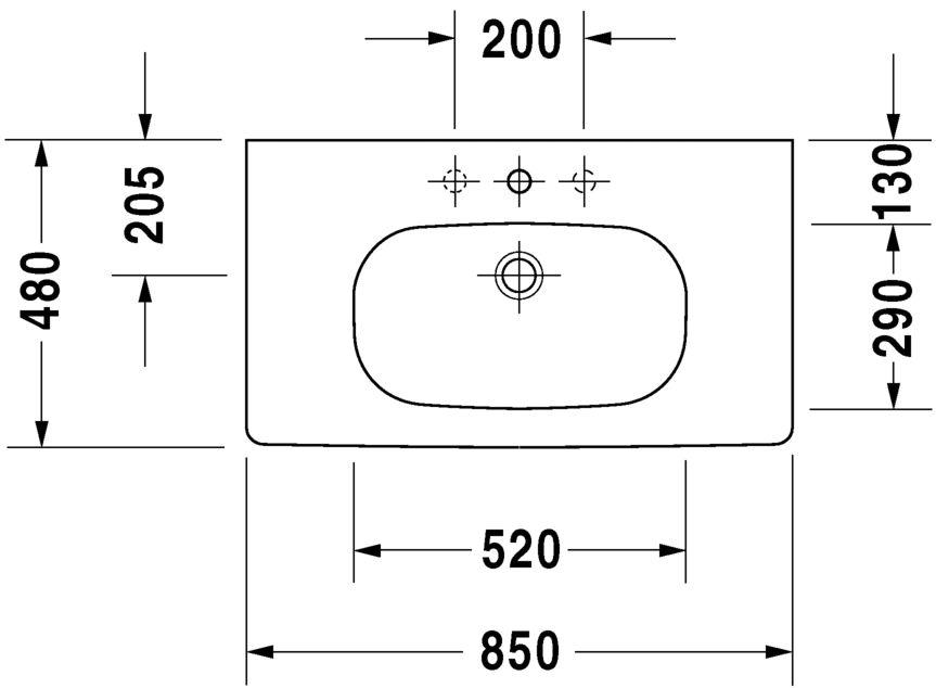 Умивальник Duravit D-Code для меблів 3428500002