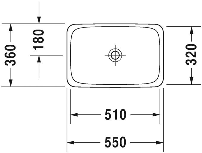 Умивальник вбудовуваний Duravit P3 Comforts 377550000