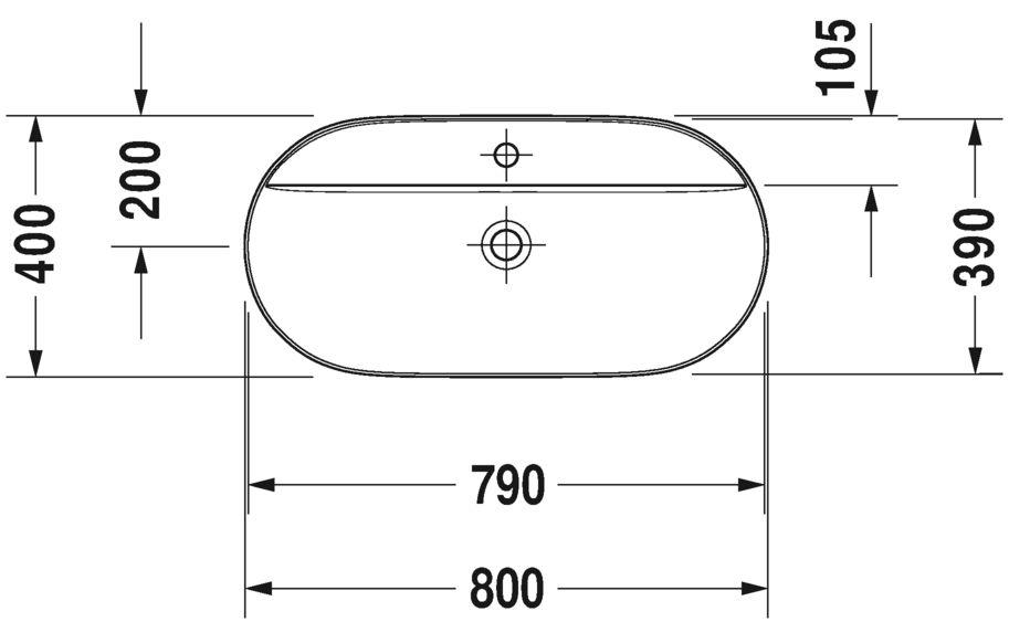 Раковина Duravit Luv 380800000
