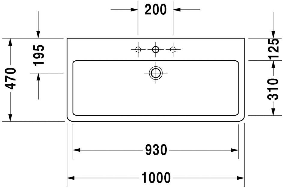 Умивальник Duravit Vero для меблів 454100000