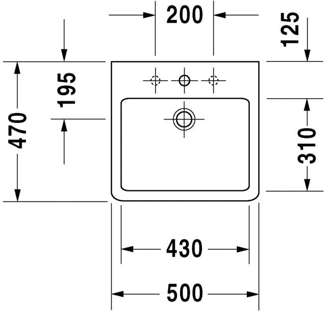 Умивальник Duravit Vero для меблів 454500000