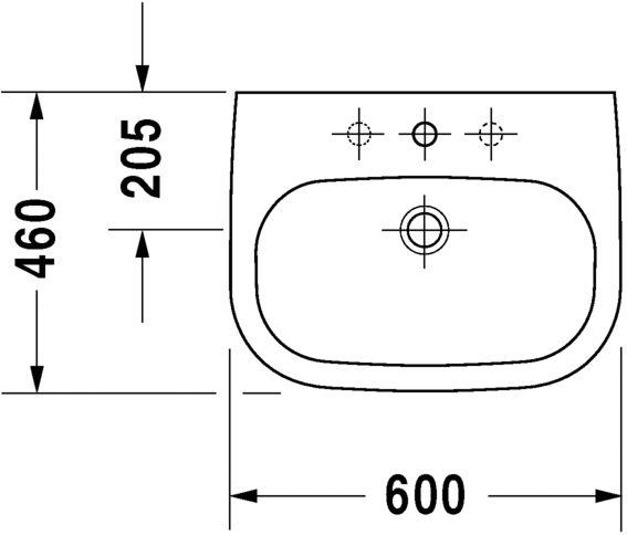Умивальник Duravit D-Code 23106000002