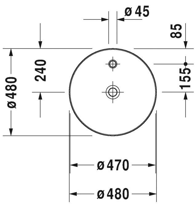 Раковина Duravit Cape Cod 2328480000
