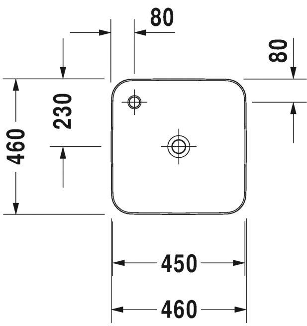 Раковина Duravit Cape Cod 2340463200