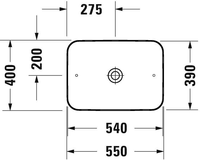 Раковина Duravit Cape Cod 2347553200