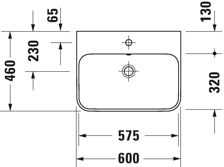 Раковина Duravit Happy D.2 Plus 2360600000