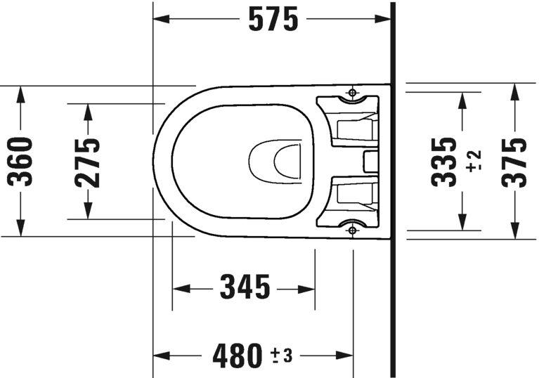 Підвісний унітаз Duravit Rimless для SensoWash f Me by 2510092000