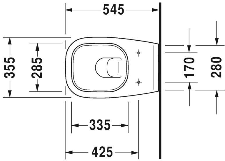 Унітаз підвісний Duravit в комплекті 45351900A1