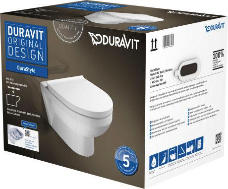 Унітаз Duravit DuraStyle Basic Rimless підвісний в комплекті 45620900A1