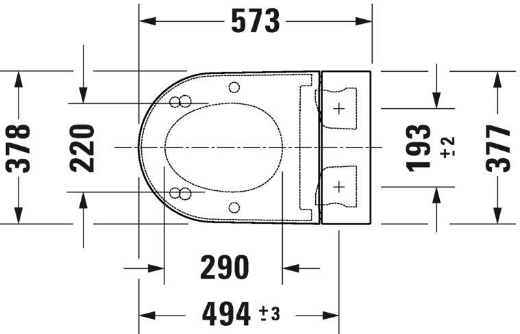 Сидіння для унітазу-біде Duravit SensoWash Starck f Plus 612000012000320
