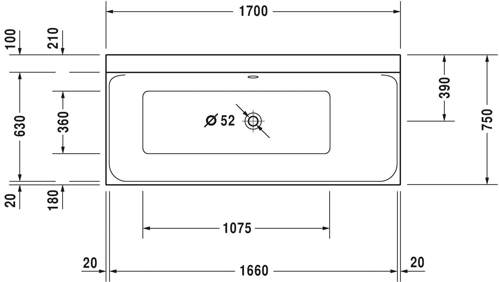 Ванна прямокутний варіант Duravit P3 Comforts 700376000000000