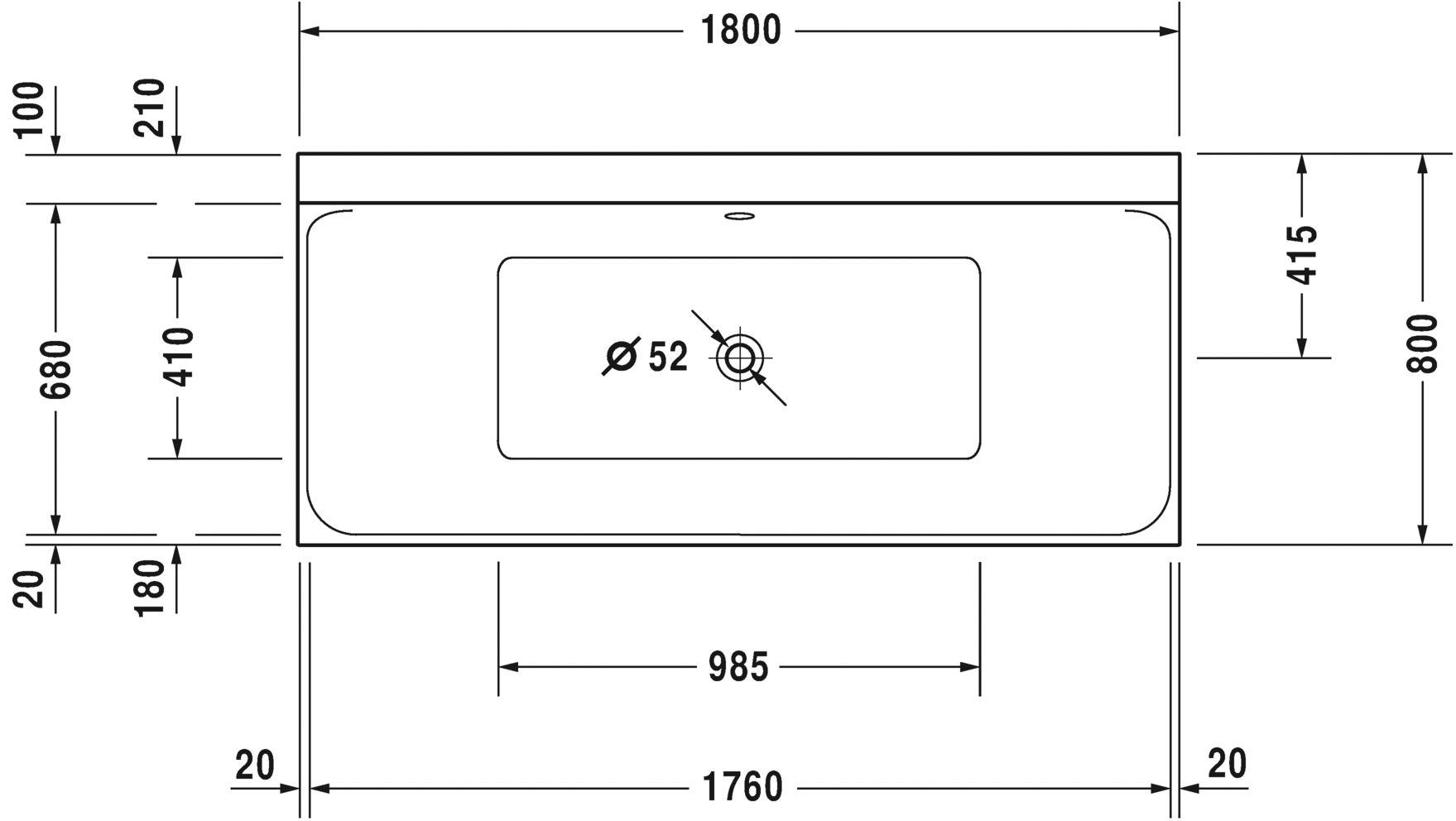 Ванна прямокутний варіант Duravit P3 Comforts 700377000000000