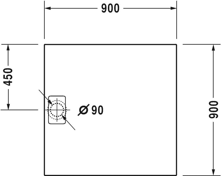 Душовий піддон Duravit Stonetto 720146380000000