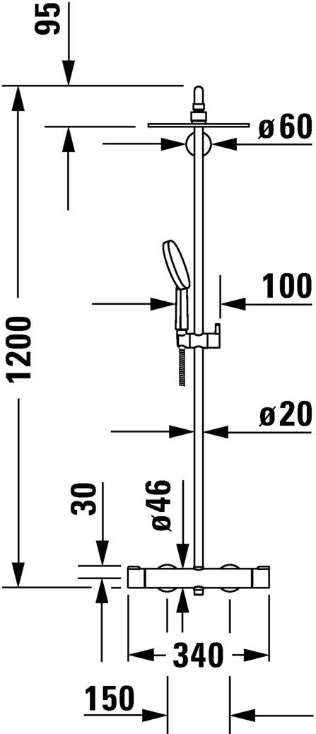 Душова система Duravit C.1 C14280008010