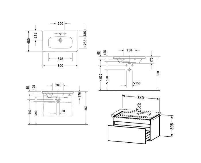 Комплект меблів Duravit DuraStyle DS006102222