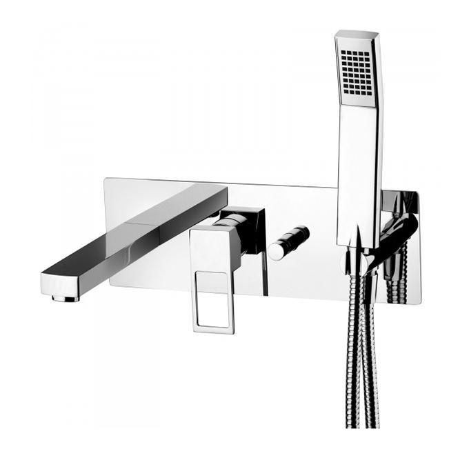 Змішувач для ванни Paffoni Effe зі стіни, в комплекті з внутрішнє частиною EF001CR