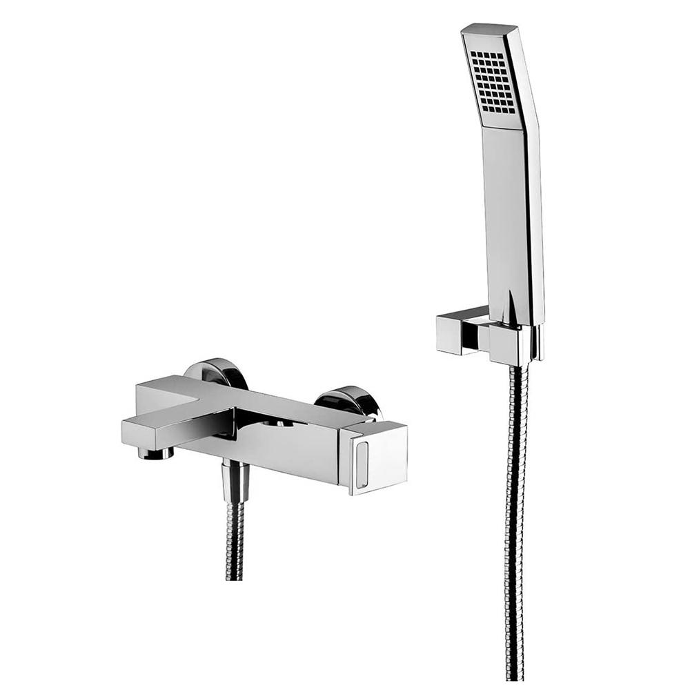 Змішувач для ванни / душа Paffoni Effe в комплекті з ручною лійкою і шлангом EF023CR