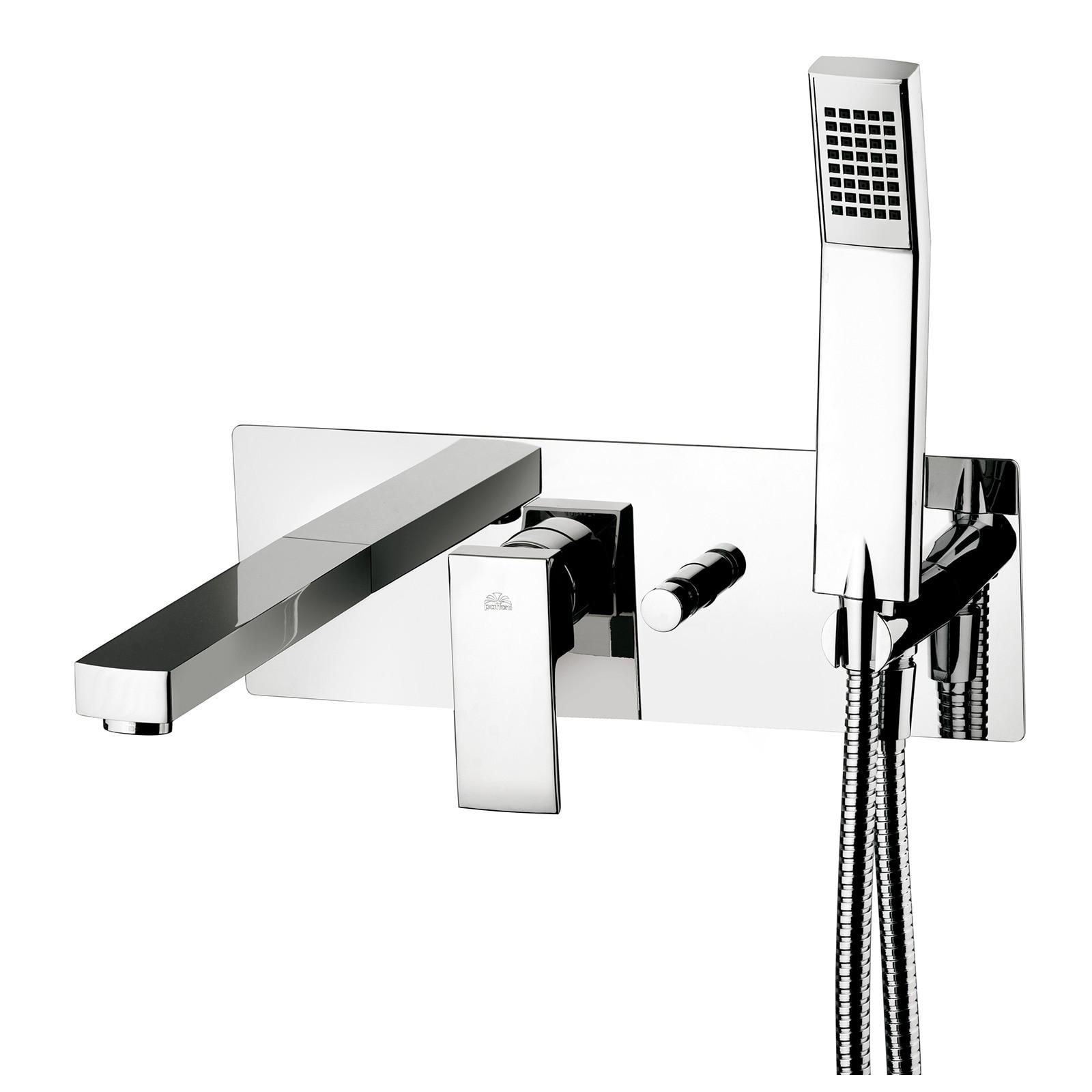 Змішувач для ванни зі стіни Paffoni Elle, в комплекті з внутрішнє частиною EL001CR