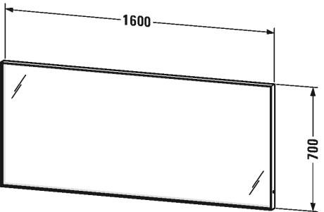 Дзеркало з підсвічуванням Duravit L-Cube LC738500000