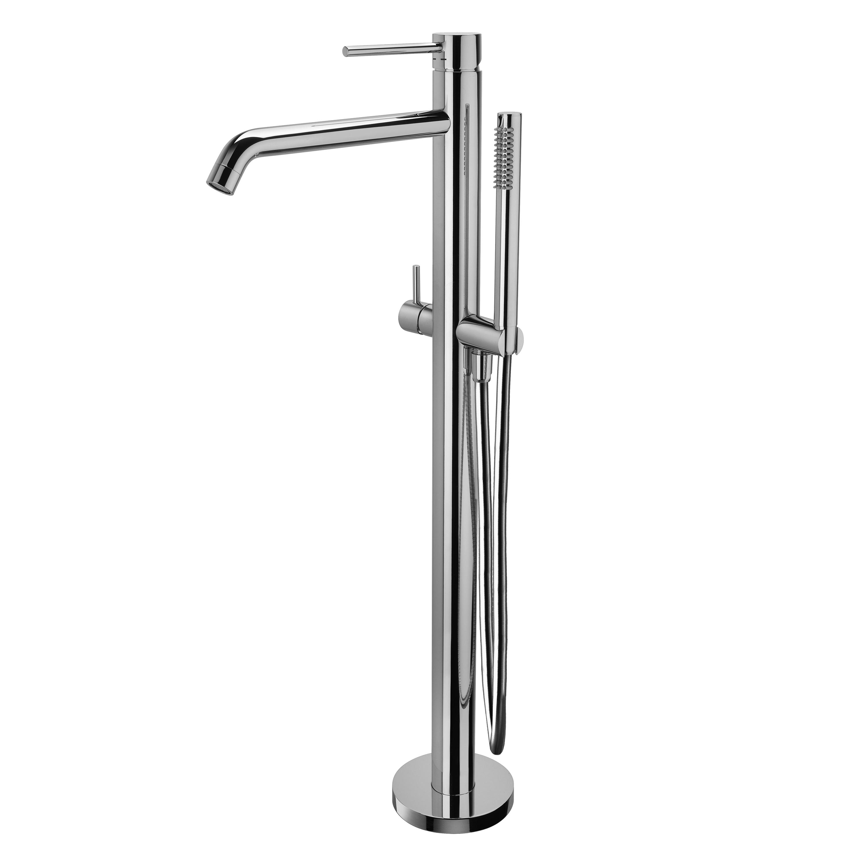 Смеситель для ванны Paffoni Light напольный монтаж с душ-м комплектом LIG032CR