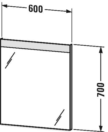 Дзеркало з підсвічуванням Duravit LM783500000