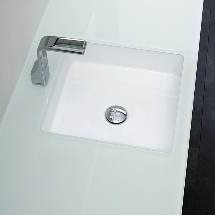 Раковина Flaminia Miniwash для установки під стільницю квадратна, без відп. 35x35x12 см MW40SP