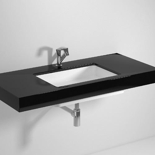 Раковина Flaminia Miniwash для установки під стільницю прямокутна, без відп. 55x35x12 см MW60SP