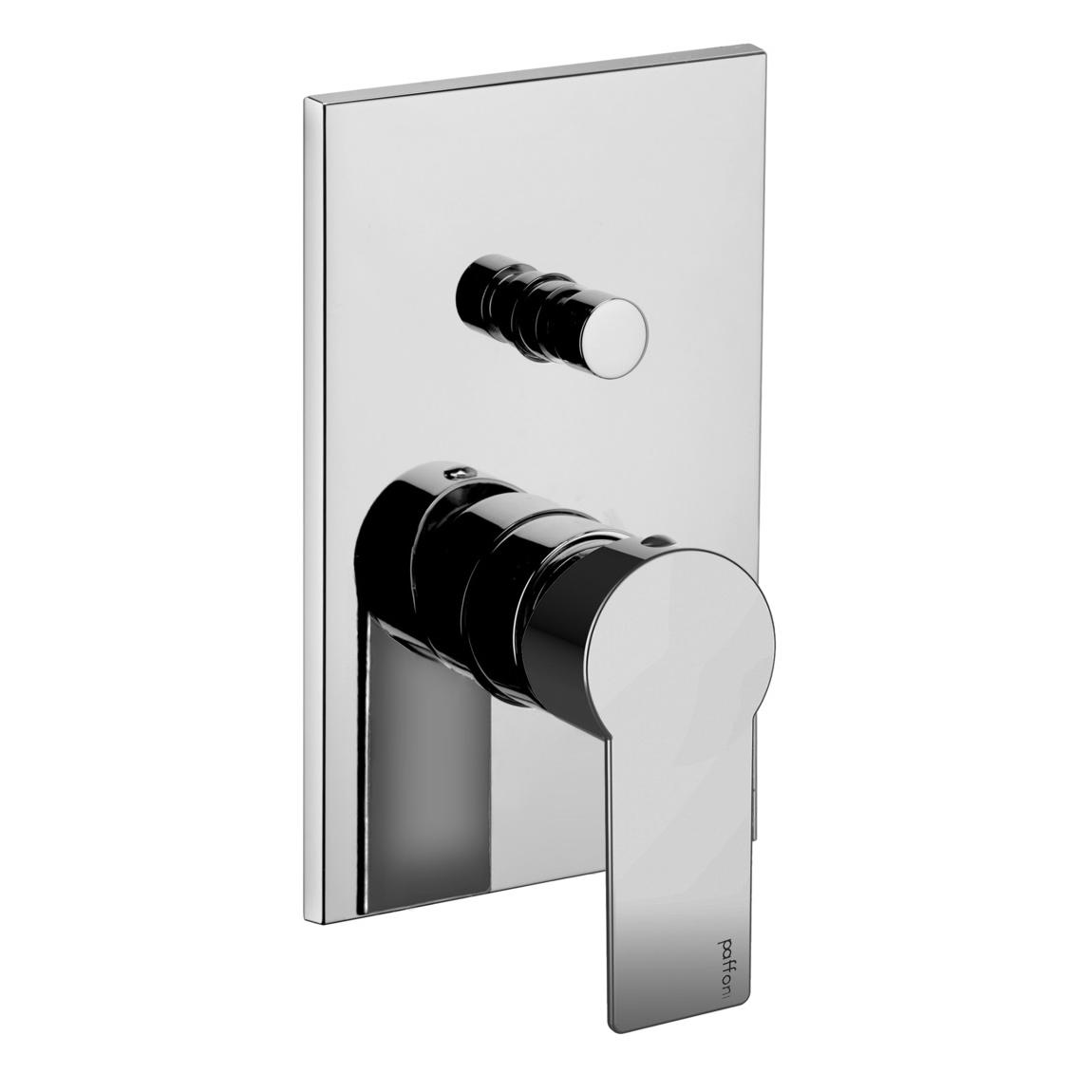 Змішувач для ванни / душа Paffoni Tango, на металевій пластині TA015CR / M