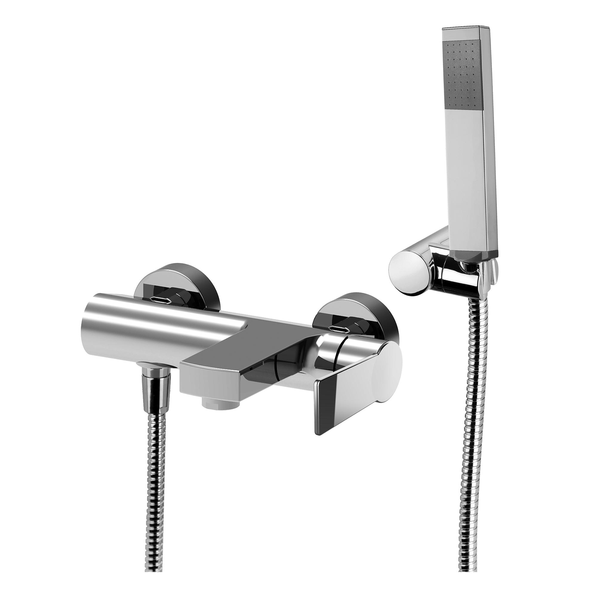 Змішувач для ванни Paffoni Tango зі стіни з душовим комплектом TA023CR