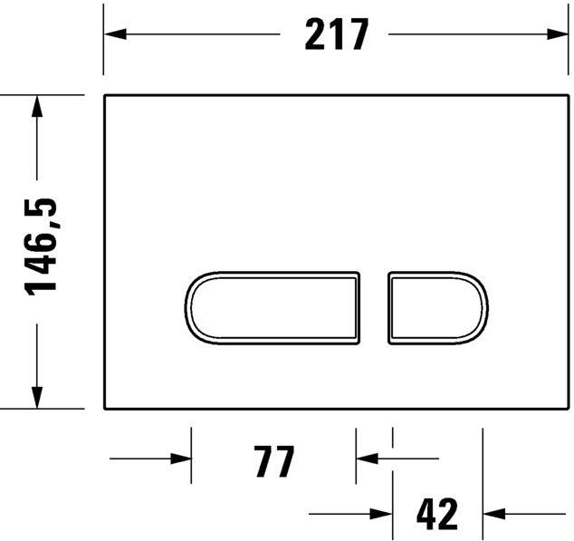 Кнопка змиву Duravit A2 WD5001011000