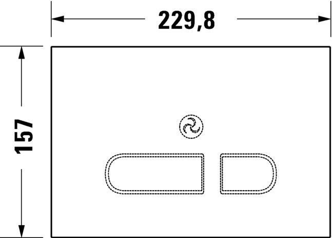 Кнопка змиву Duravit A2 WD5003012000