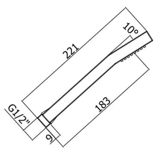 Ручний душ Paffoni з ABS ZDOC054CR