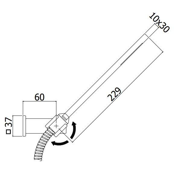 Ручний душ Paffoni з власником і шлангом 1500 мм ZDUP058CR