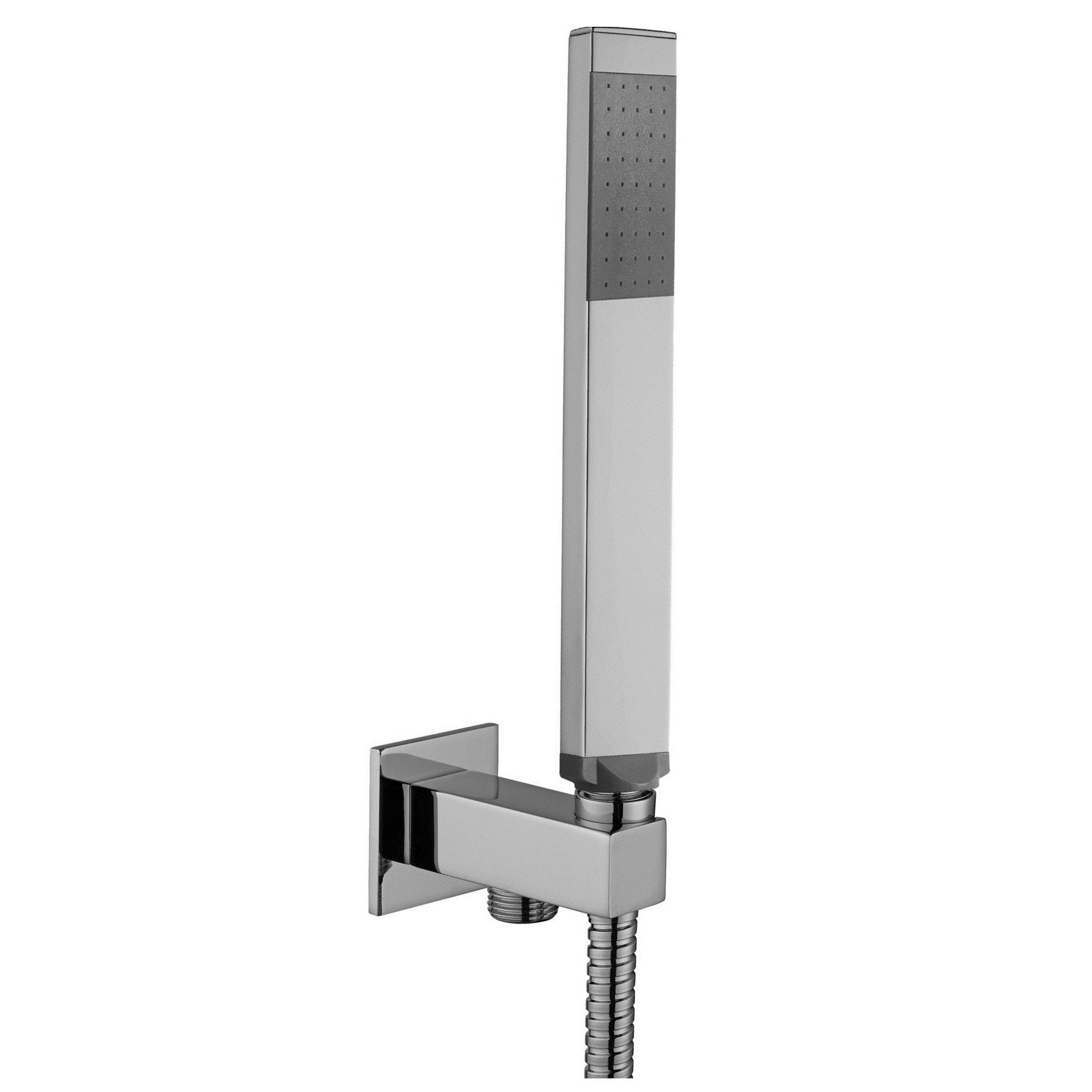 Ручной душ Paffoni с держателем, шлангом 1500 мм и выпуском со стены ZDUP095CR