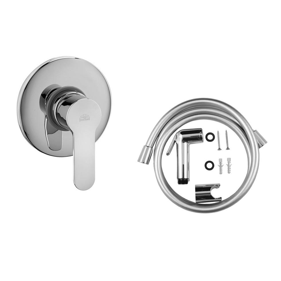 Гігієнічний душ Paffoni в комплекті зі шлангом 120 мм і власником ZDUP099 + BLU010CR