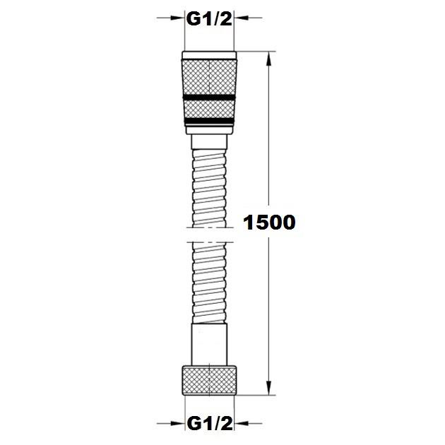 Шланг Paffoni 1500 мм ZFLO001CR