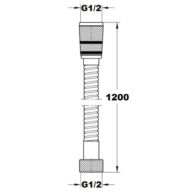 Шланг Paffoni 1200 мм ZFLO004CR