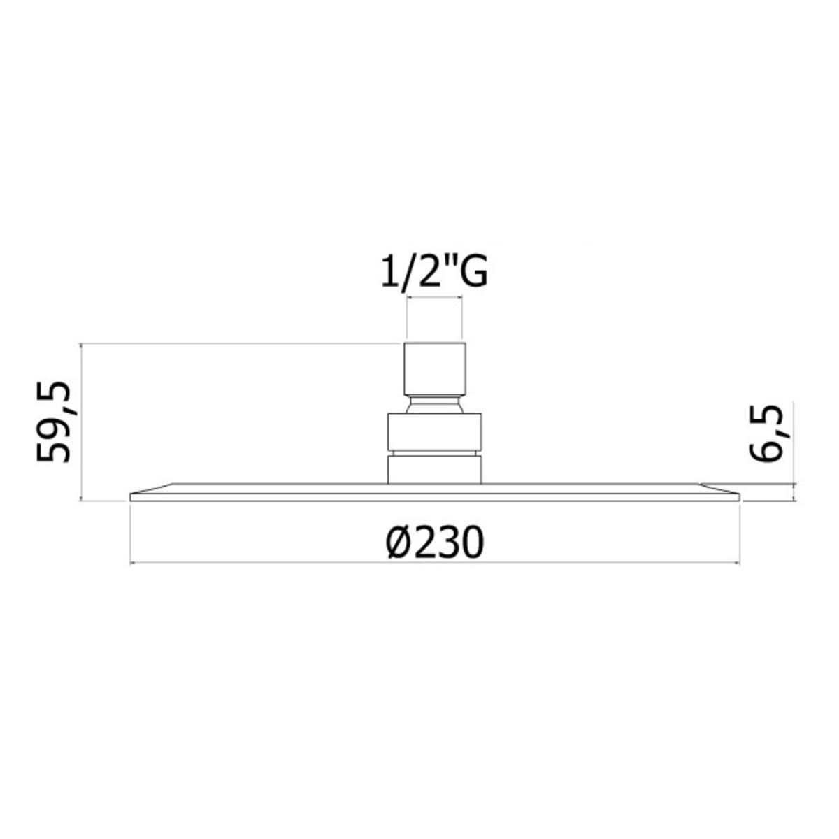 Верхній душ Paffoni круглий 250 мм ZSOF093CR
