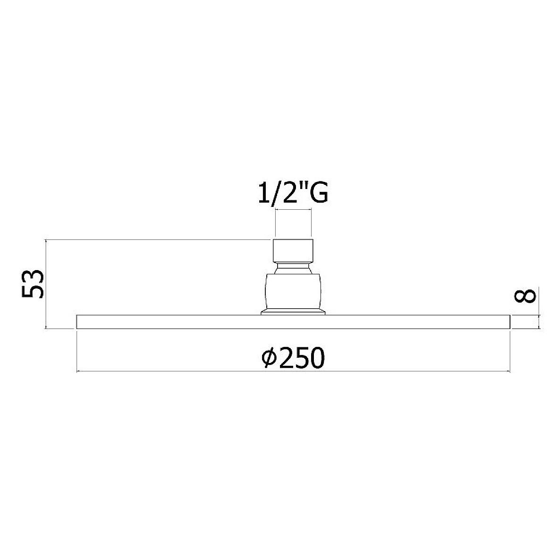 Верхній душ Paffoni круглий 250 мм ZSOF101CR