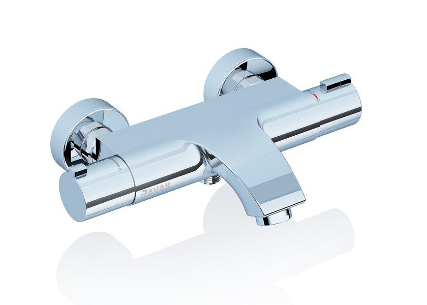 Смеситель Ravak термостатический для ванны, настенный, X070046