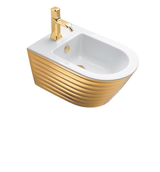 Биде Catalano CLASSY 35×55 белый/золото 1BS55ZEBO