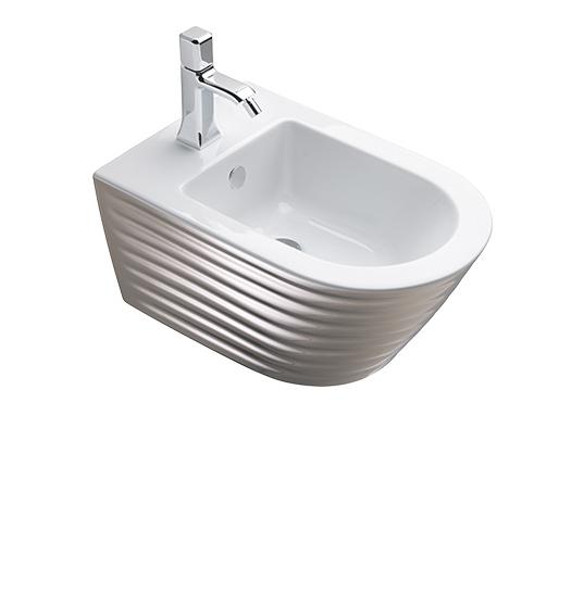Биде Catalano CLASSY 35×55 белый/серебро 1BS55ZEBA