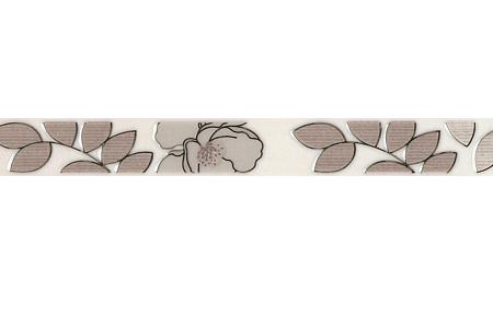 Бордюр Kerama Marazzi Ньюпорт Цветы коричневый 40х3,1