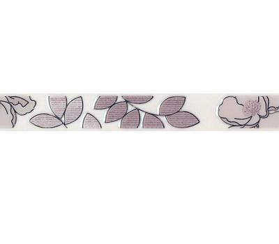 Бордюр Kerama Marazzi Ньюпорт Цветы фиолетовый 40х3,1